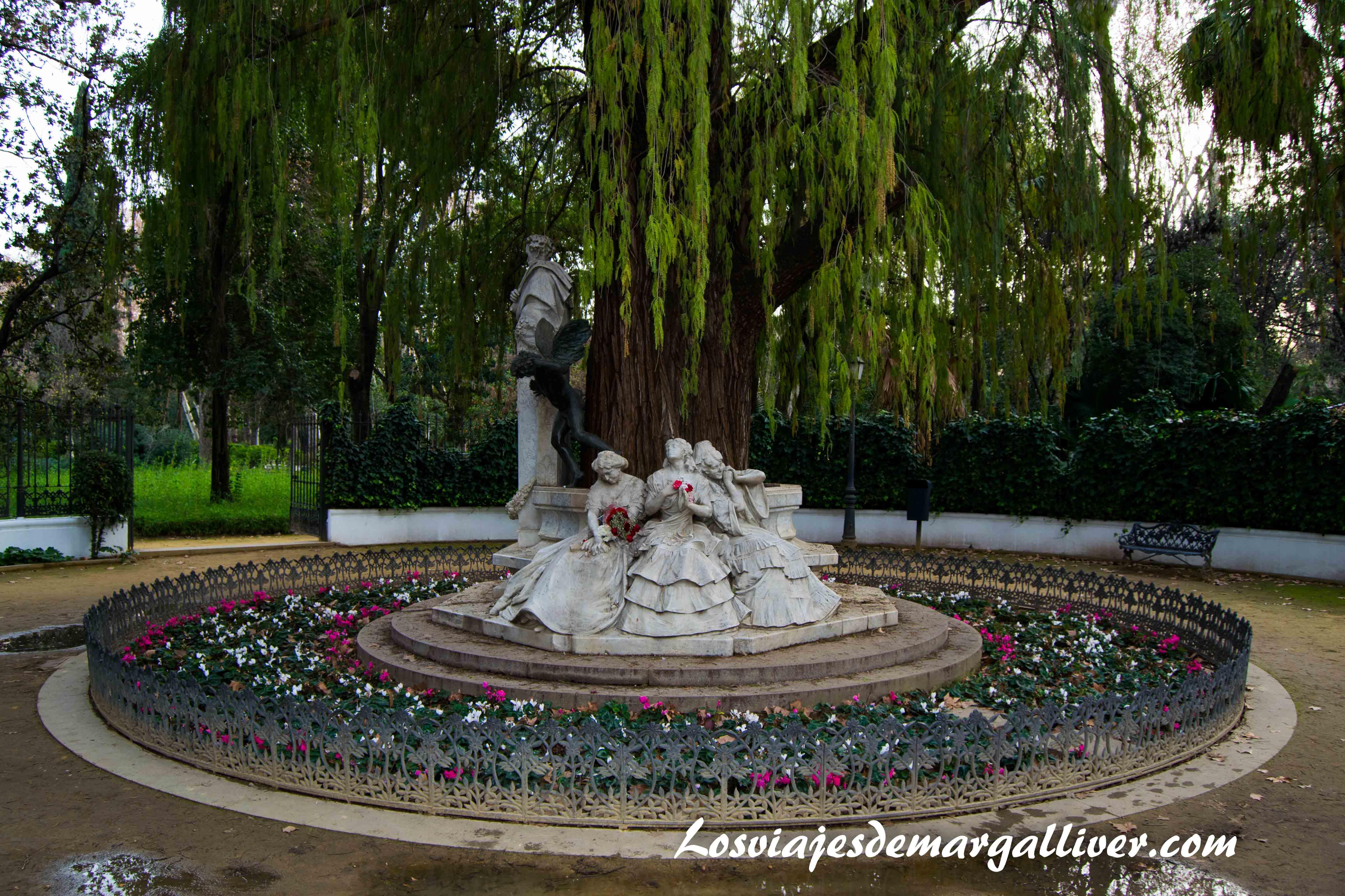 Glorieta de Becquer en el parque Maria Luisa de Sevilla, Ruta por Sevilla - Los viajes de Margalliver